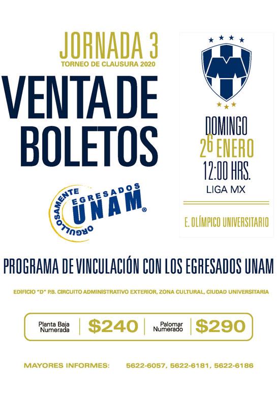 Boletos Pumas UNAM vs Monterey