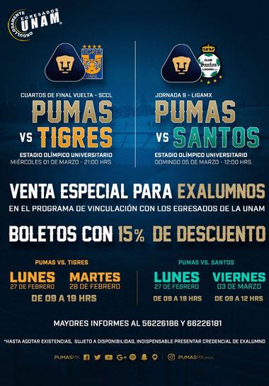Venta de boletos Pumas vs Cholos
